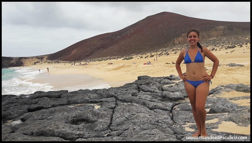 Playa de la concha en isla La Graciosa