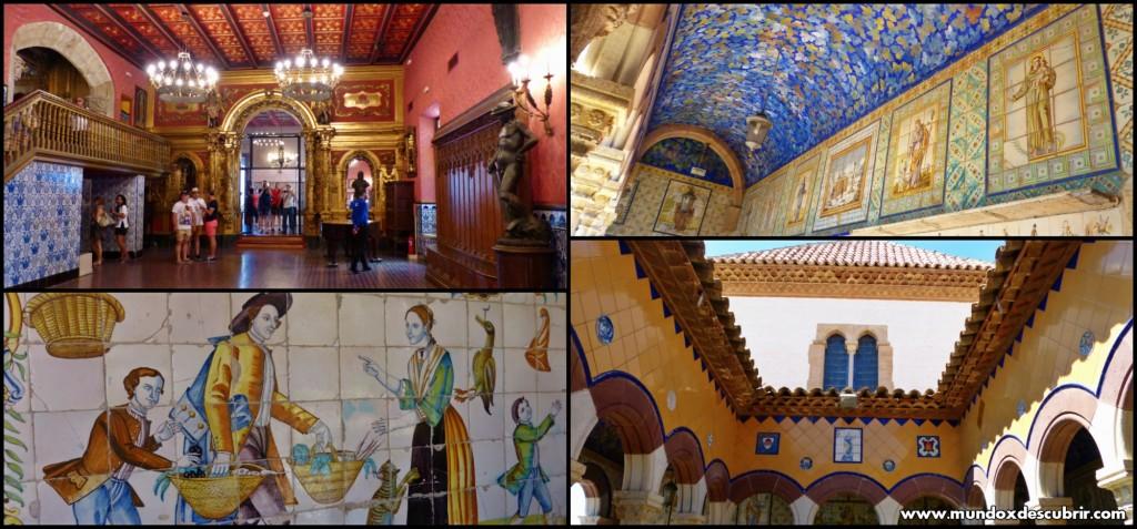 Collage Palacio Mar i Cel interior