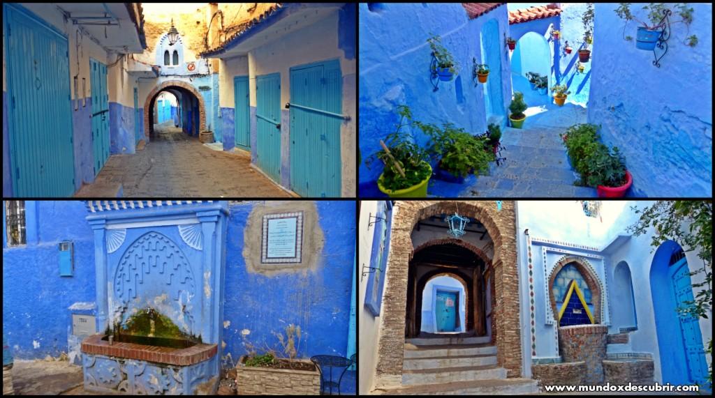 Collage calles azules