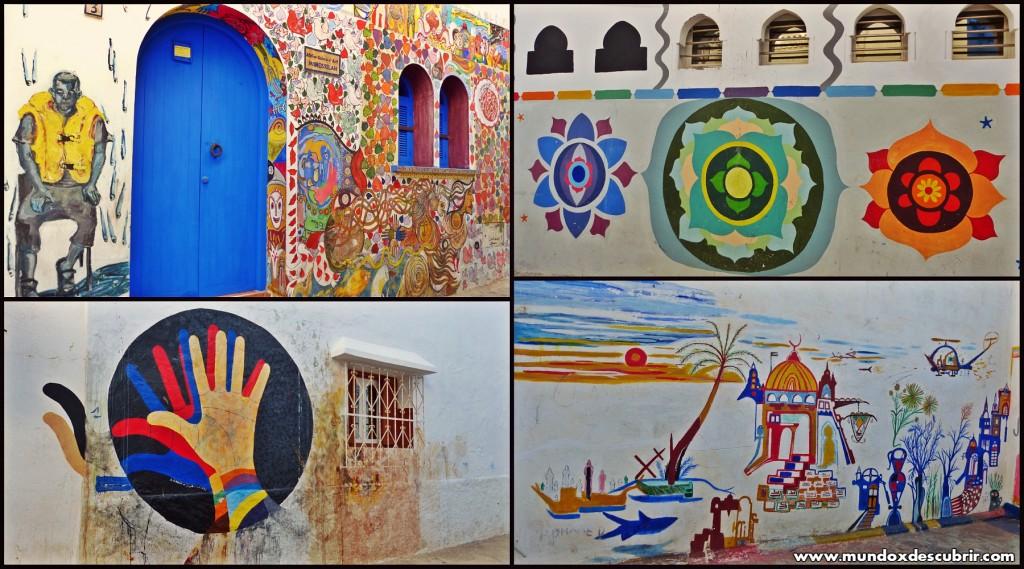 Collage calles pintadas