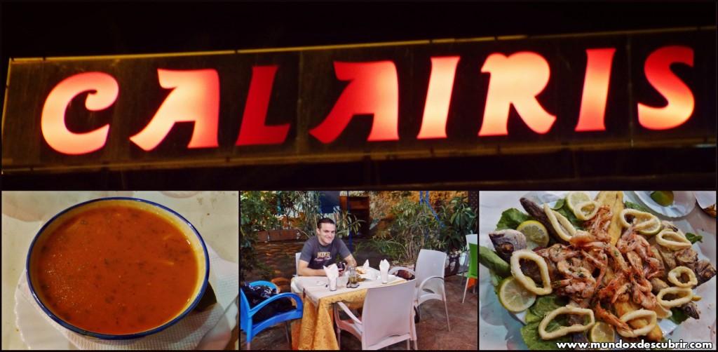 Collage restaurante Calairis