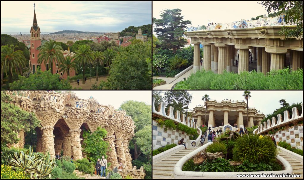 parque guell collage