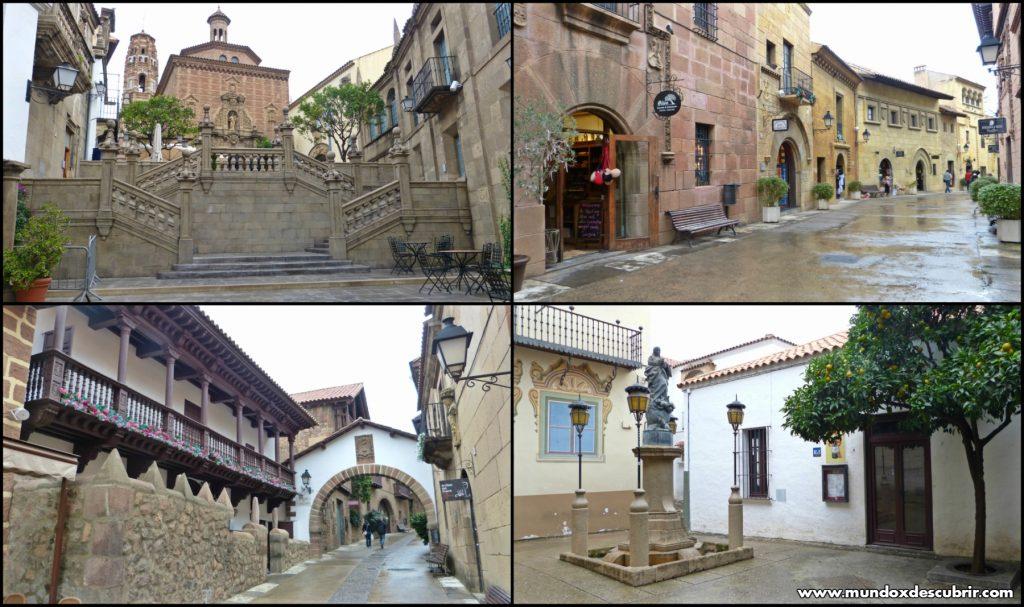 poble español collage
