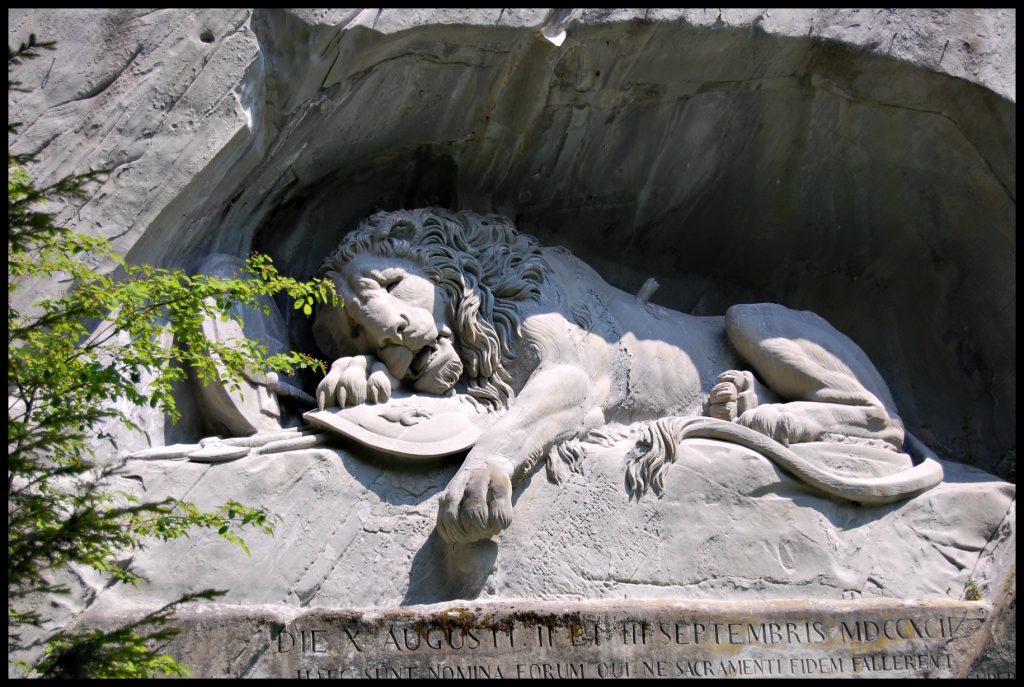 León herido de Lucerna