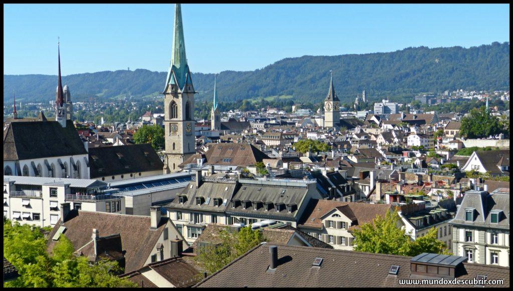 Vistas desde la Universidad de Zurich