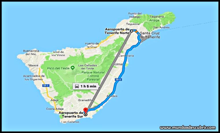 Mapa aeropuerto Isla de Tenerife