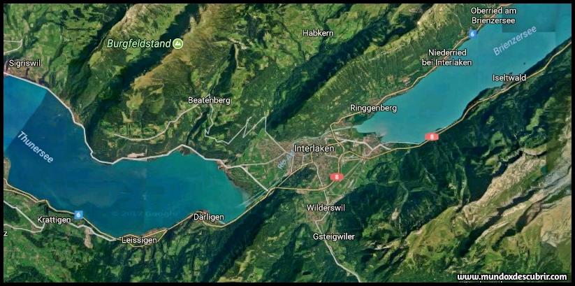 Mapa Interlaken - Suiza