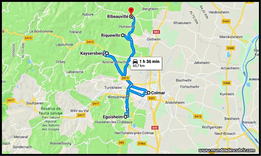 mapa alsacia