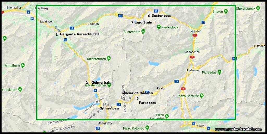 Carretera Panorámica por los Alpes suizos