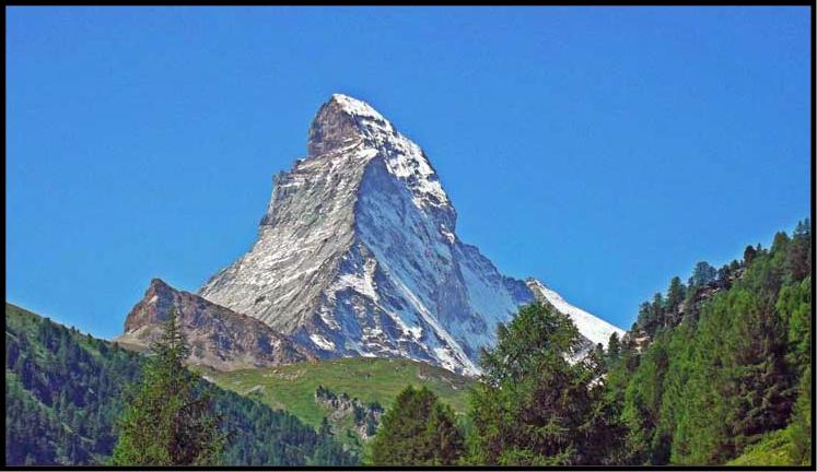 montaña mas alta de suiza cervino