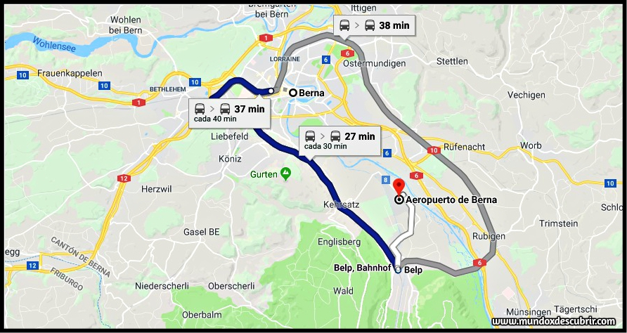 cómo llegar a Berna