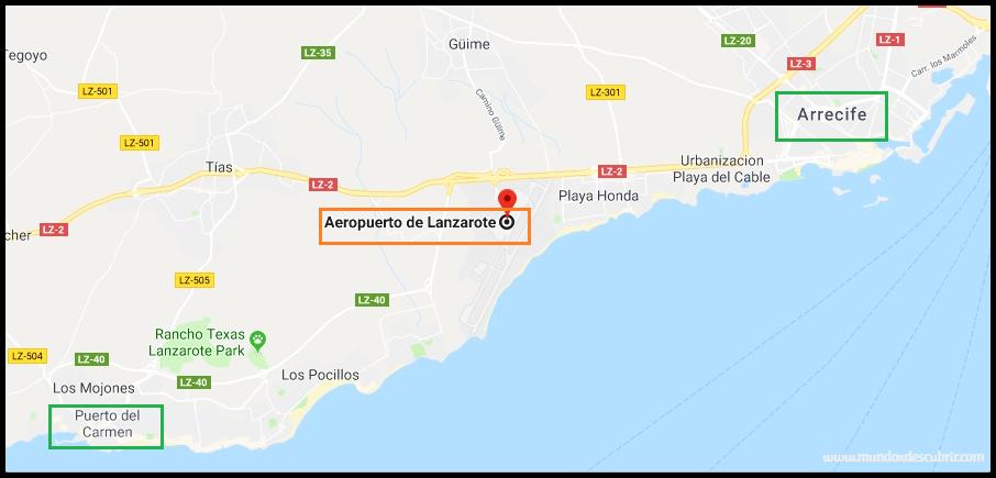 Isla De Lanzarote Mapa.Guia De Viaje Que Ver Y Hacer En Lanzarote