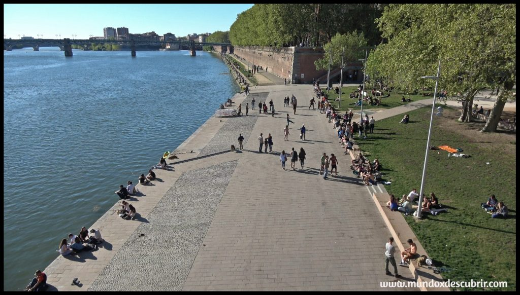 Puente rio garona toulouse