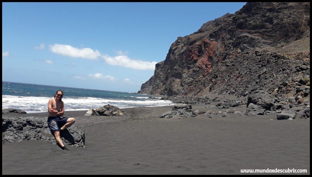 playa volcánica - la Gomera