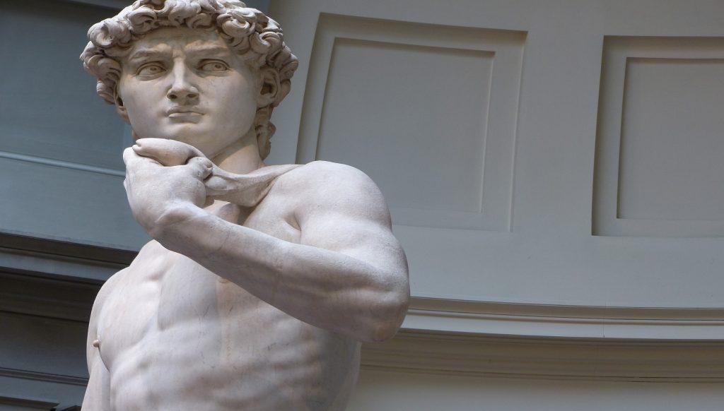 escultura de David - galeria de la academia