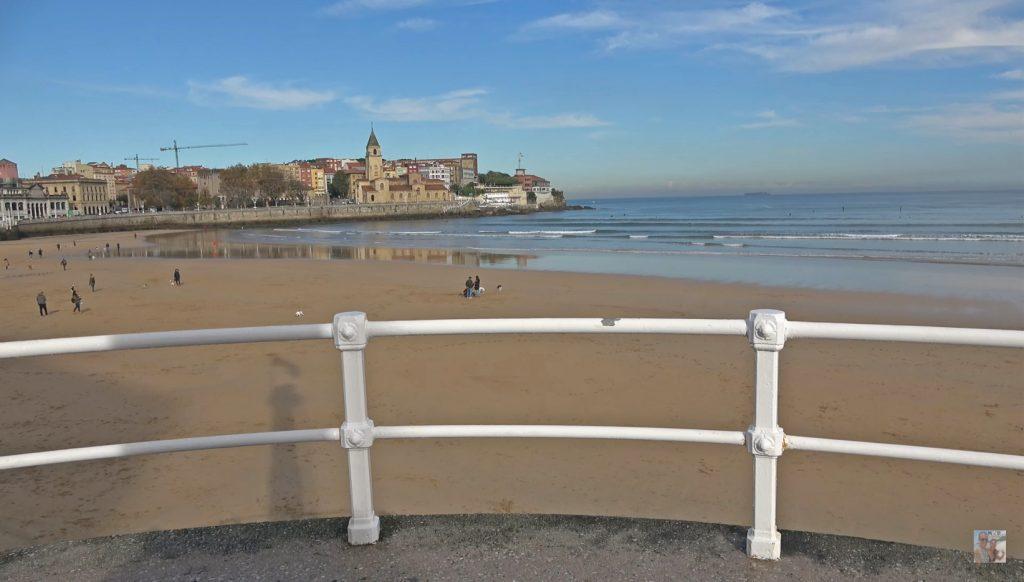 Vistas de la Playa Gijón